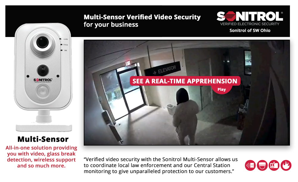 Image of Multi-Sensor Verified Video Security for your Business flyer